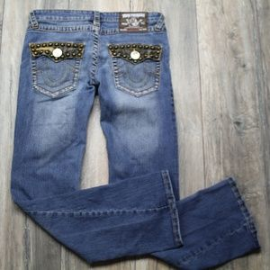 True Religion Joey super T jeans Studded